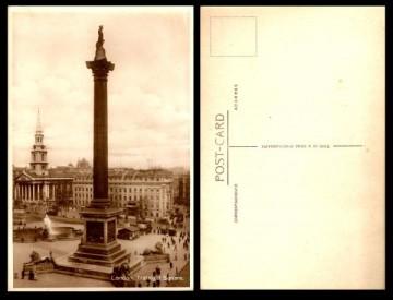 Postal - Londres, Plaza Trafalgar